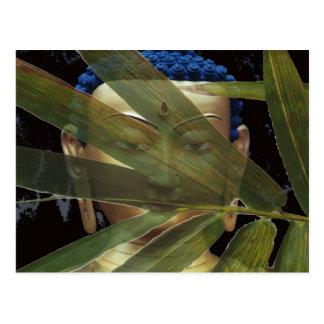 Carte Postale Bouddha en bambou