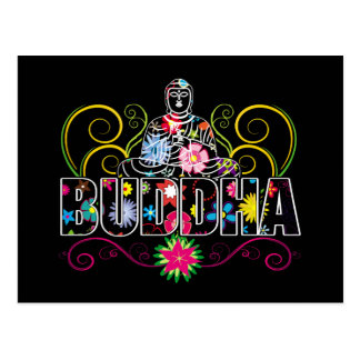 Carte Postale Bouddha en fleurs