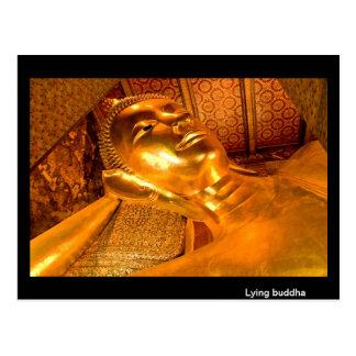 Carte Postale Bouddha menteur Thaïlande