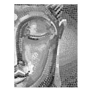 Carte Postale Bouddha noir et blanc font face