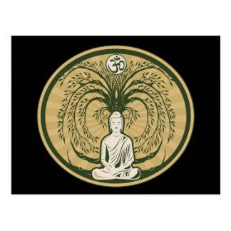 Carte Postale Bouddha sous l'arbre de Bodhi