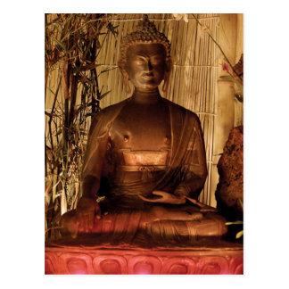 Carte Postale BOUDDHA : Statue de cuivre