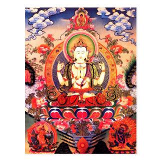 Carte postale bouddhiste tibétaine d'art
