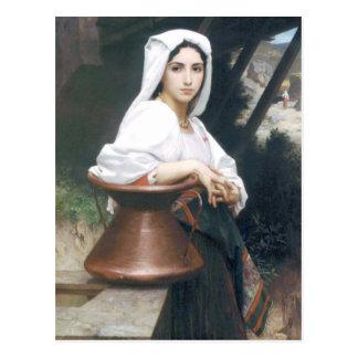 Carte Postale Bouguereau - Jeune Italienne Puisant de l'Eau
