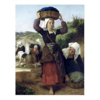 Carte Postale Bouguereau - Lavandieres de Fouesnant