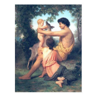 Carte Postale Bouguereau - L'Idylle