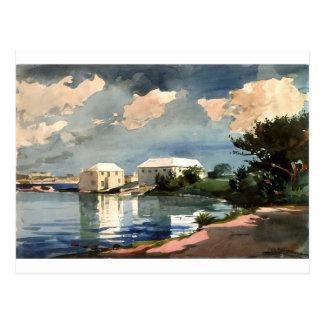 Carte Postale Bouilloire de sel, Bermudes par Winslow Homer