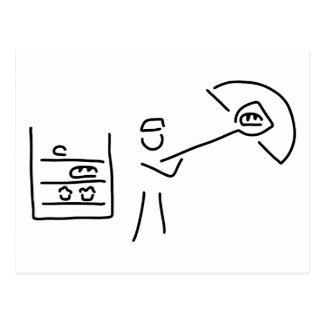Carte Postale boulanger boulangerie artisanat