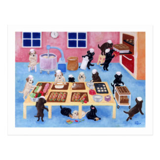 Carte Postale Boulangerie de Labradors