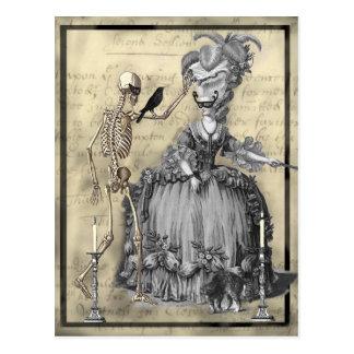 Carte Postale Boule de mascarade de Halloween