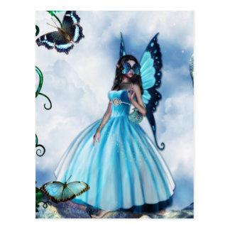 Carte Postale Boule de mascarade féerique