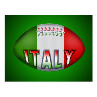 Carte Postale Boule de rugby de l'Italie