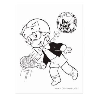 Carte Postale Boule riche de palette de Richie - B&W