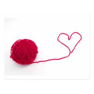 Carte Postale Boule rose de l'amour
