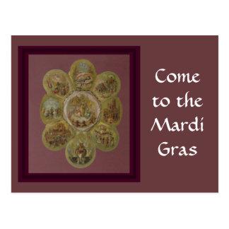 Carte Postale Boule victorienne de mardi gras