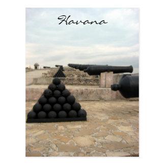 Carte Postale boulets de canon de château de morro
