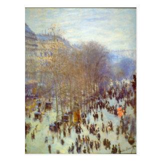 Carte Postale Boulevard Capucines par Claude Monet