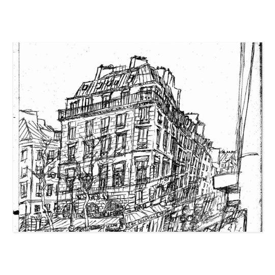 Carte Postale Boulevard Paris architecture bohême rue existe en