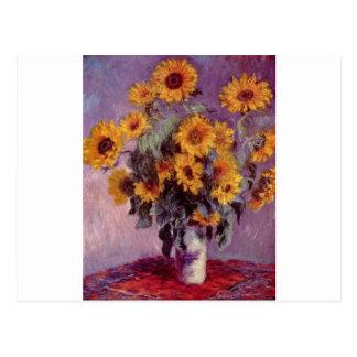 Carte Postale Bouquet de Claude Monet des tournesols