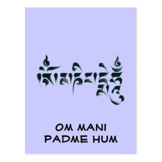 Carte Postale Bourdonnement III de l'OM Mani Padme