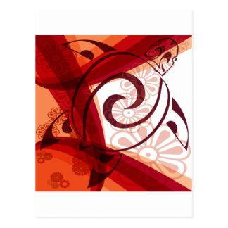 Carte Postale Bourgogne-Floral-Tortue
