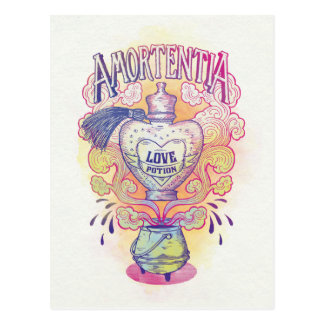 Carte Postale Bouteille de philtre d'amour du charme |