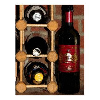 Carte Postale Bouteilles de vin