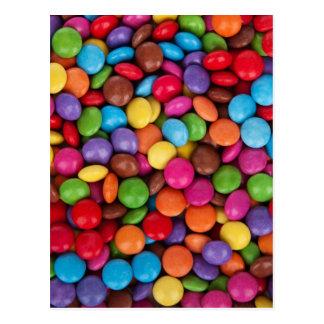 Carte Postale boutons colorés multi frais de chocolat