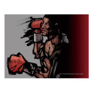 Carte Postale Boxeur se couchant