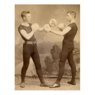 Carte Postale Boxeurs victoriens
