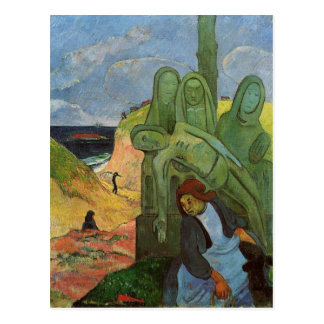 Carte Postale Breton de Calvaire par Paul Gauguin