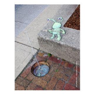 carte postale brickfishing de sluggo