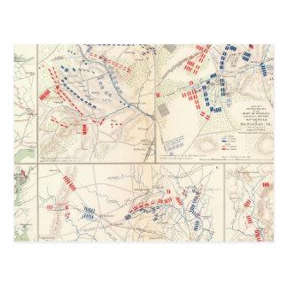 Carte Postale Brigade de Cav, cèdre Mtn, Manassas, course de