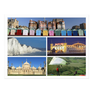 Carte Postale Brighton et multi-image Hove