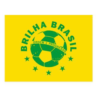 Carte Postale Brilha Brésil - le football brésilien
