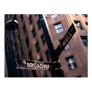 Carte Postale Broadway/Wallstreet