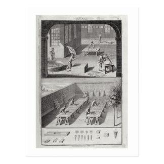 """Carte Postale Bronzage en cuir, de la """"encyclopédie"""" par Denis"""