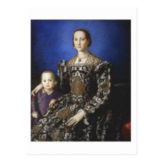 Carte Postale Bronzino Eleanor de Toledo et son fils