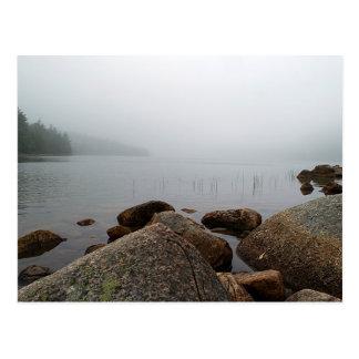 Carte Postale Brouillard sur l'étang de la Jordanie