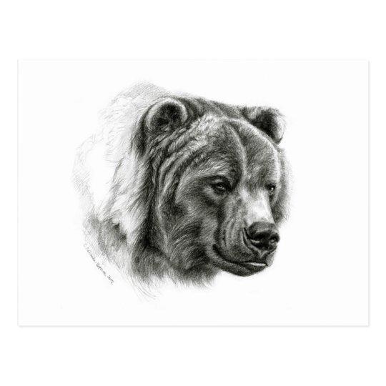Carte Postale Brown Bear design by Schukina G054