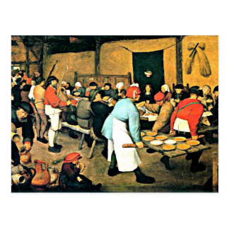 Carte Postale Bruegel l'Aîné-Paysan Wedding-1568