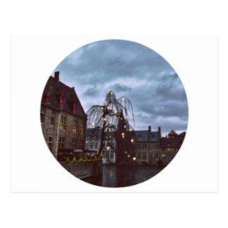 Carte Postale Bruges bleu