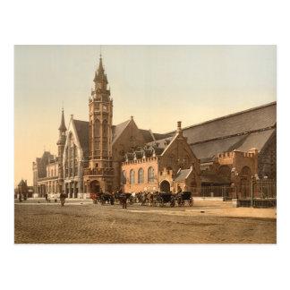 Carte Postale Bruges - la station, Belgique