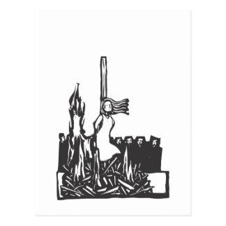 Carte Postale Brûlé à l'enjeu