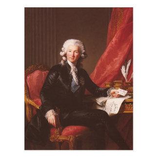 Carte Postale Brun-Portrait de Louise Elisabeth de Charles