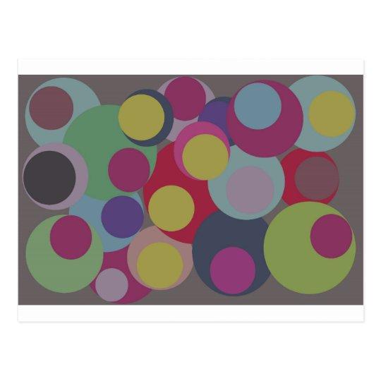 Carte Postale bubbles