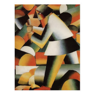 Carte Postale Bûcheron par Kazimir Malevich