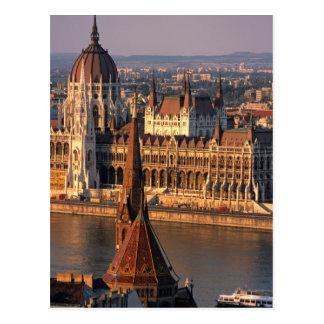 Carte Postale Budapest, Hongrie, le Danube, le Parlement