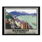 Carte Postale Budapest par l'intermédiaire d'affiche de voyage