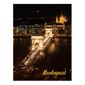 Carte Postale Budapest par nuit